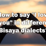 """How to say """"I love you"""" in different Bisaya dialects?"""